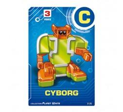 Letrabots Planet White | C Cyborg