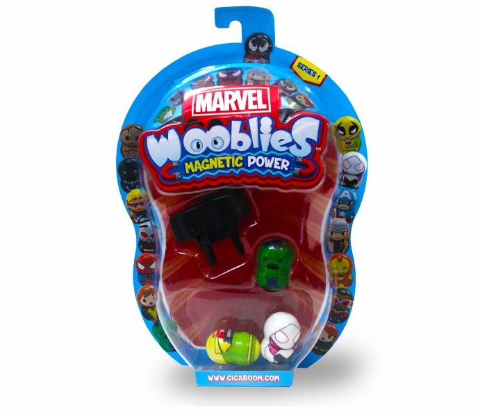 Marvel Wooblies | Blister 3 pz + Launcher