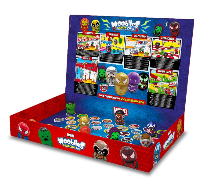Marvel Wooblies Collector Box con Turbo Booster