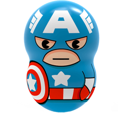 Marvel Wooblies | Blister 3 pz - Captain America