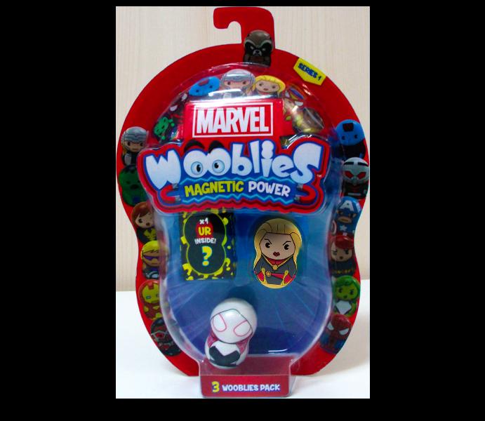 Marvel Wooblies | Blister 3 pz - Captain Marvel