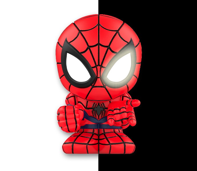 Marvel Boomez | Spider-Man speciale METAL occhi GLOW IN THE DARK