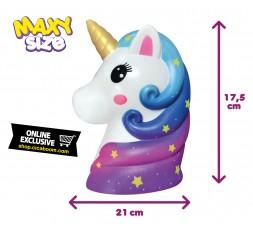 Pushy Pushy Squishy   Maxi Unicorn Head
