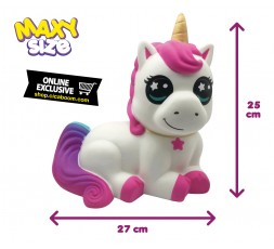 Pushy Pushy Squishy   Maxi Seated Unicorn