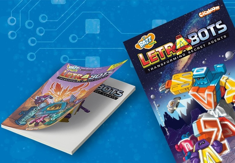 Fumetti delle avventure Letrabots | Shop Cicaboom