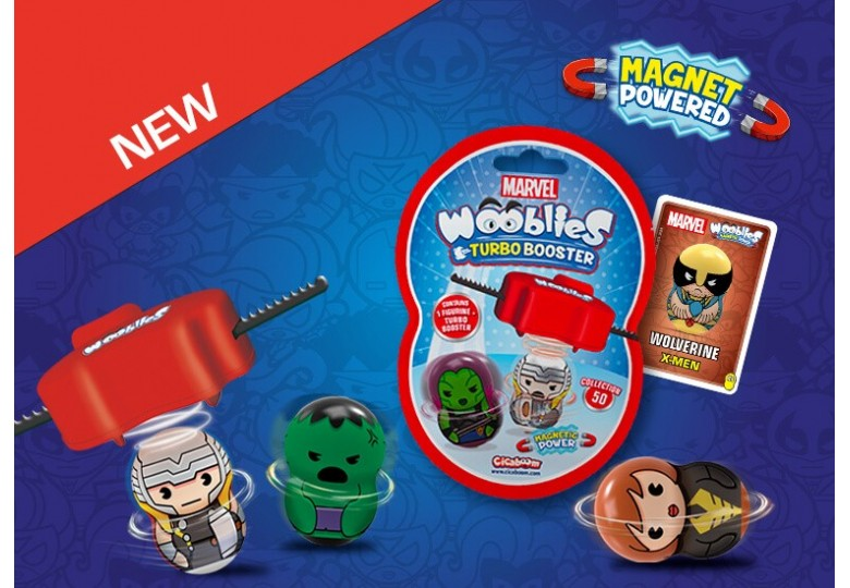 Marvel Wooblies trottole magnetiche