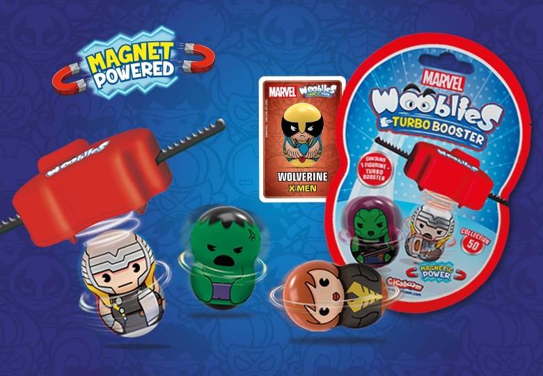 Marvel Wooblies superheroes spinning tops | Shop Cicaboom