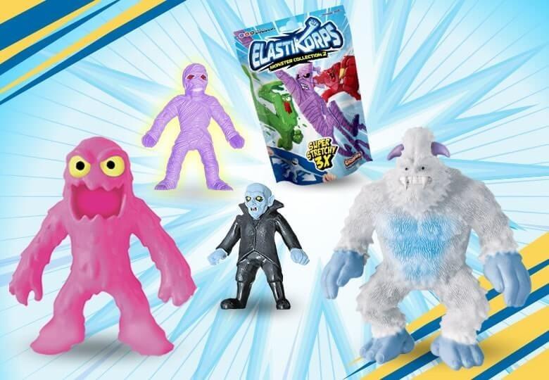 Elastikorps 2 gummiartige Monsterfiguren | Shop Cicaboom