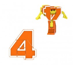 Letrabots Numbers Combo Big Robot   Big Robot