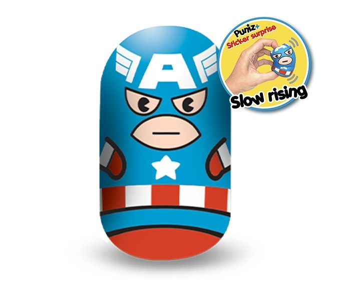 Marvel Puniz Squishy Battle | Captain America