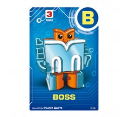Letrabots Planet White | B Boss