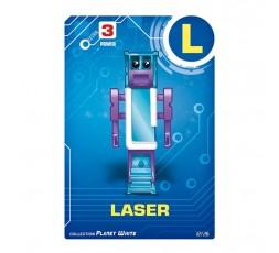Letrabots Planet White   L Laser