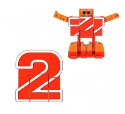 Letrabots Numbers Combo Big Robot 2 2Kick
