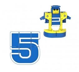 Letrabots Numbers Combo Big Robot 5 Top5
