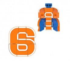 Letrabots Numbers Combo Big Robot 6 6Smix