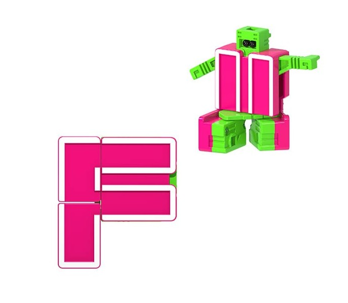 Letrabots Combo Big Robot ADE   F Firebot + point-virgule