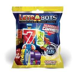 Letrabots Numbers Combo Big Robot-bustine