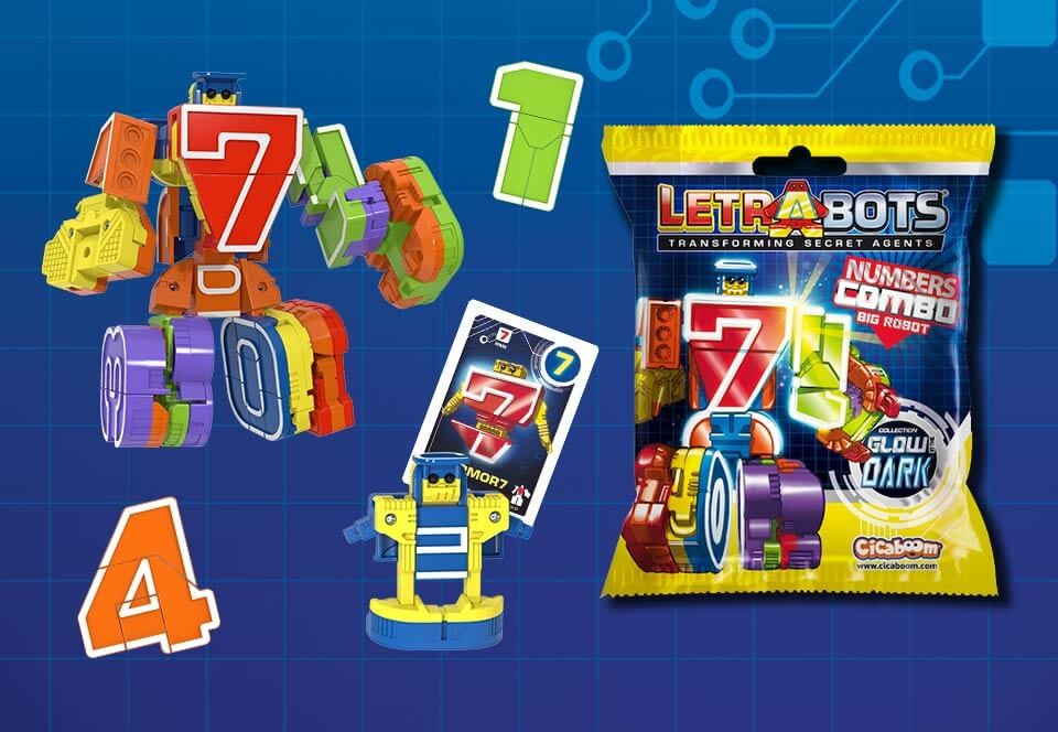 Letrabots Numbers Combo Big Robot
